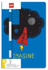 LEGO Stationery Zápisník A5 s modrým perem - Imagine