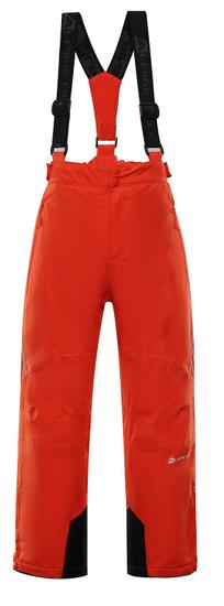 ALPINE PRO chlapčenské lyžiarske nohavice ANIKO 3 92 - 98 oranžová