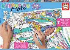 EDUCA Vybarvovací puzzle - mořský svět
