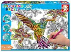 EDUCA Vybarvovací puzzle 300 dílků - kolibřík