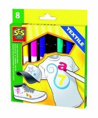 SES Fixy na textil MAXI,8 barev,