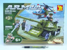 Dromader Stavebnice Dromader Vojáci Tank + Vrtulník 22605, 253 dílků
