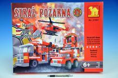 Dromader Stavebnice Dromader Hasiči Auto+Vrtulník+Stanice 21901, 697 dílků