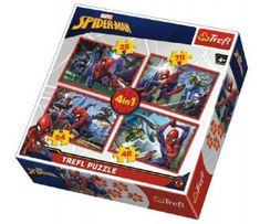 Trefl Puzzle 4v1 Spiderman/Disney Marvel Spiderman