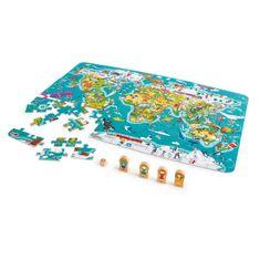 Hape Dětské puzzle - Mapa světa 2 v 1
