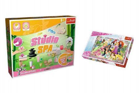Trefl PACK Science for you Studio SPA 21 pokusů + Puzzle Disney Princezny 260 dílků