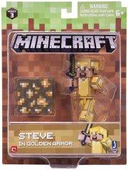 TM Toys TM Toys Minecraft Sběratelská figurka Steve ve zlaté zbroji
