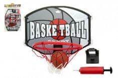 Teddies Koš basketbal + míč a doplňky plast 40cm v sáčku