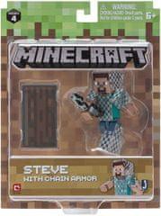 TM Toys TM Toys Minecraft Sběratelská figurka Steve v řetězové zbroji