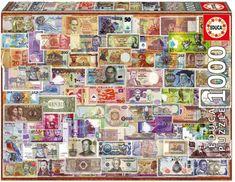 EDUCA Puzzle 1000 dílků - Bankovky