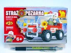 Dromader Stavebnice Dromader Hasiči Auto 21201 58ks