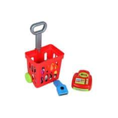 BAYO Detský nákupný košík s príslušenstvom Bayo 27 ks Červená