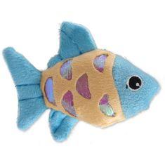 Magic cat Hračka rybka plyšová s catnipem mix 10 cm