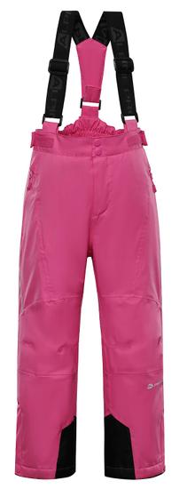 ALPINE PRO dívčí lyžařské kalhoty ANIKO 3 104 - 110 růžová