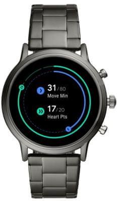 Chytré hodinky Fossil FTW4024, vodotěsné, měření tepu, tepová frekvence, kroky, spálené kalorie, vzdálenosti, GPS