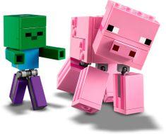 LEGO figurka 21157 Minecraft duża: Świnka i mały Zombie