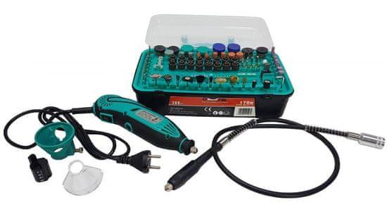 MAR-POL Mini přímá bruska 170W s příslušenstvím 222ks MAR-POL M22270
