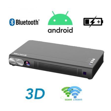 Byintek P12, 3D LED DLP, Android mini prenosni projektor