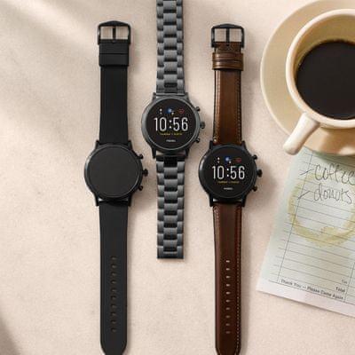 Chytré hodinky Fossil FTW4026, bezkontaktní platyb NFC Google Pay integrovaný hudební přehrávač, přehrávání hudby, elegantní design, funkce najít telefon, telefonování