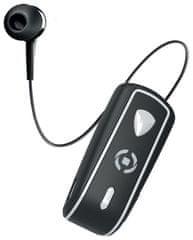 Celly Snails headset s klipem a navijákem BHSNAILBK, černý