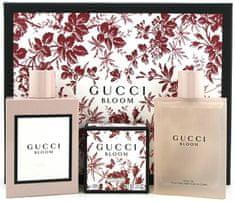 Gucci Bloom - EDP 100 ml + tělový olej 100 ml + tělové mýdlo 100 g