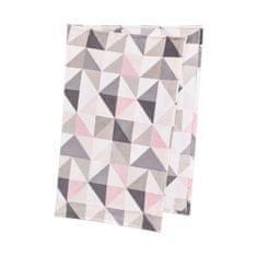 Butlers Flísová deka trojúhelníky - sv. růžová/šedá