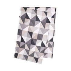 Butlers Flísová deka trojúhelníky - černá/šedá
