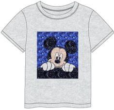 Disney koszulka chłopięca z aplikacją z cekinami Mickey Mouse