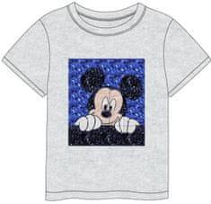 Disney chlapčenské tričko s flitrovanou aplikáciou Mickey Mouse