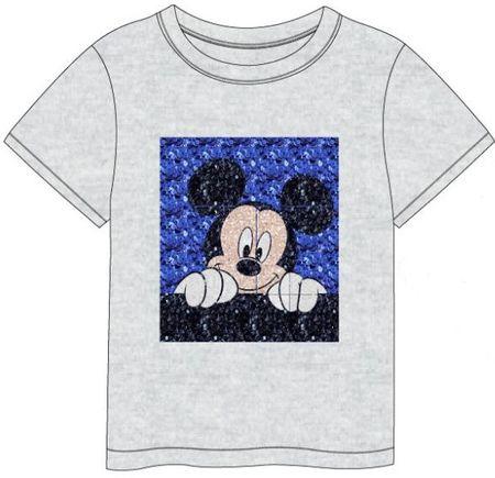 Disney fiú póló flitteres Mickey Mouse mintával, 98, szürke