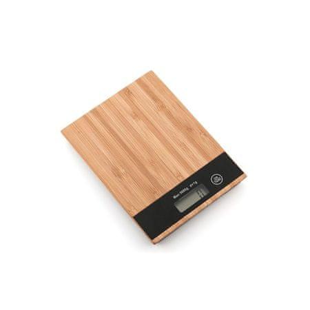 Kuhinjska digitalna vaga, bambus, 5 kg