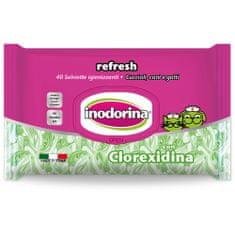 INODORINA Obrúsky antibakteriálne Baby Powder 40 ks