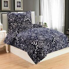 Jahu posteljina Hortenzie, mikropliš, 70x90/140x200 cm, plava