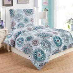 Jahu posteljnina Debora, 70x90/140x200 cm, turkizna