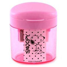 Snoopy Strúhadlo , ružové, plastové s motívom