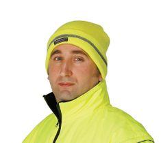 Cerva Zimní reflexní čepice Turia žlutá UNI