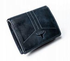 Buffalo Wild Moderní kožená peněženka modrá Miles