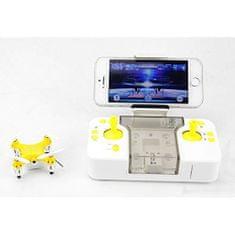 Funtom 1W, nejmenší dron s wifi kamerou na světě, BAROMETR AUTO START A PŘISTÁNÍ, žlutý