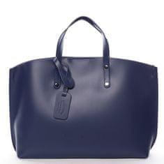 Delami Vera Pelle Dámska kožená kabelka do ruky Desideria, tmavo modrá