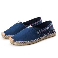 Maxeuro 914 Espadrilky textilní boty Simple - modré