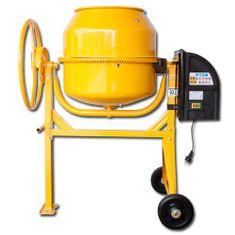 Max Stavební míchačka 125 L s ocelovým ozubením žlutá