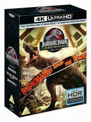 Jurský park 1-3 kolekce (4K Ultra HD) - UHD Blu-ray + Blu-ray (6 BD)