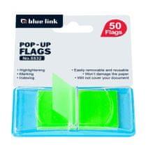 Blue Link lističi, samolepilni, zeleni, 50 / 1 (26588)