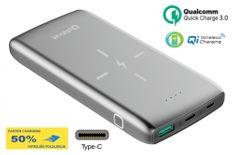 Platinet PMPB10QIBP prijenosna baterija Power Bank, 10000 mAh, Quick Charge 3.0, 10 W, srebrna