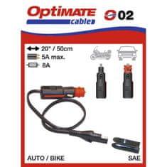 prepojovací kábel O02 (SAE-72) so zásuvkou 12V BIKE 12 mm/AUTO 21 mm-SAE