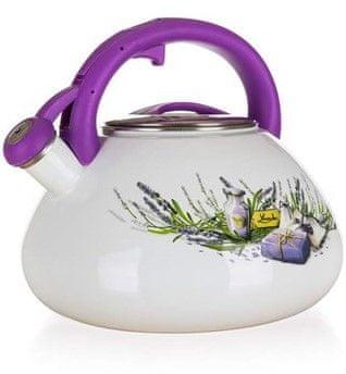 Banquet čajnik sa zviždaljkom Lavender, krem, 3 l