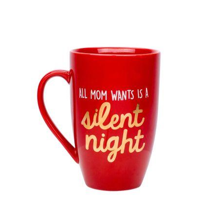 Pearhead All Mom Wants is a Silent Night skodelica, rdeča