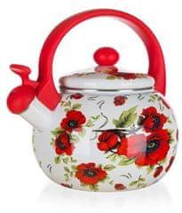 Banquet Emaliowany czajnik z gwizdkiem POPPY 2,2 l