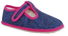 Protetika dievčenské barefoot topánky RAVEN navy