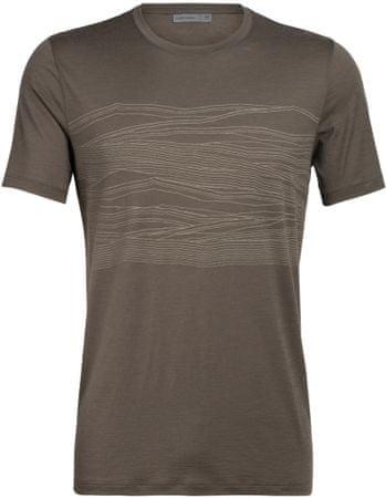 Icebreaker Męska koszulka merino Tech Lite SS Crewe 1000 (104944208) S brązowy